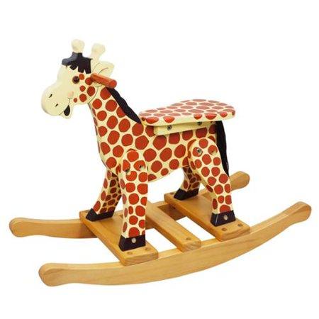 Giraffe Toddler Rocking Chair w Hand Painted Design - Walmart.com