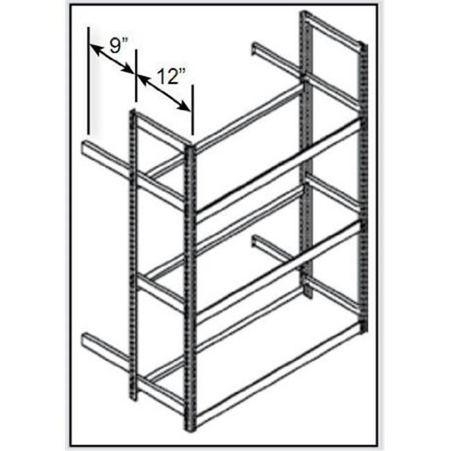 Hallowell TSS6021144-5A Rivetwell, Single Row, Tire Storage Shelving 60 in. W x 21 in. D x 144 in. H 729 Parchment 5 Levels