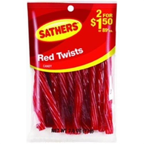 Sathers Red Twists12pack (2.5oz per pack) (Pack of 3)