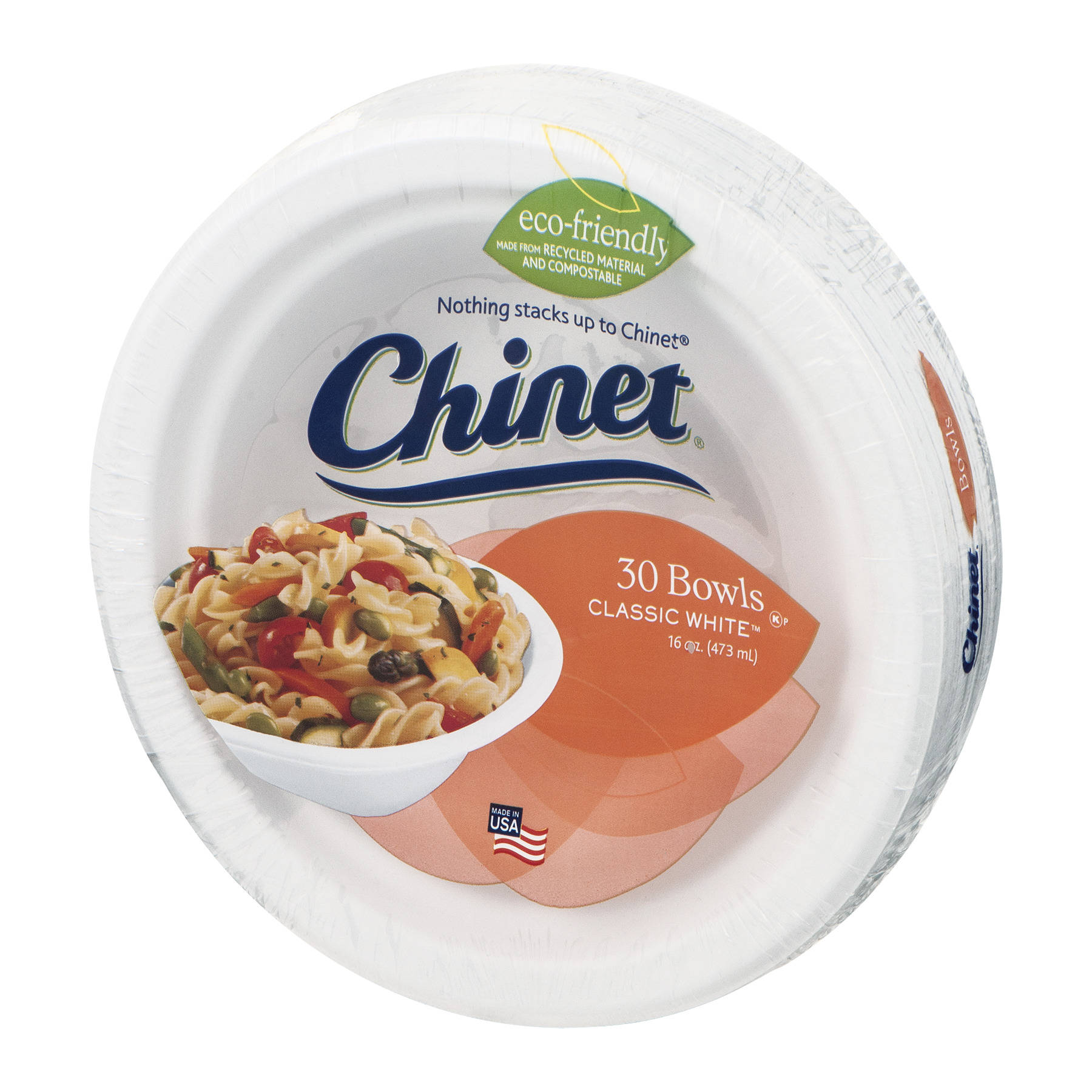 Chinet Bowls Classic White 30 Ct Walmart Com