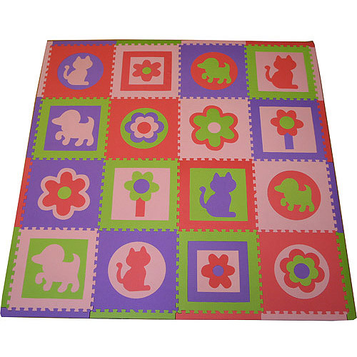 Seed Sprout Cats and Dogs 16pc Playmat Set