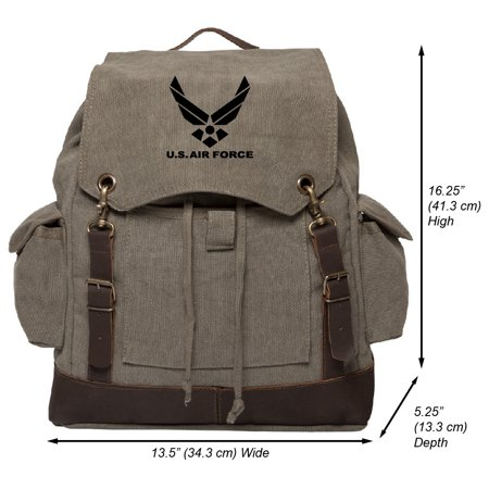 Air Force Backpacks - us air force vintage canvas rucksack backpack with leather straps