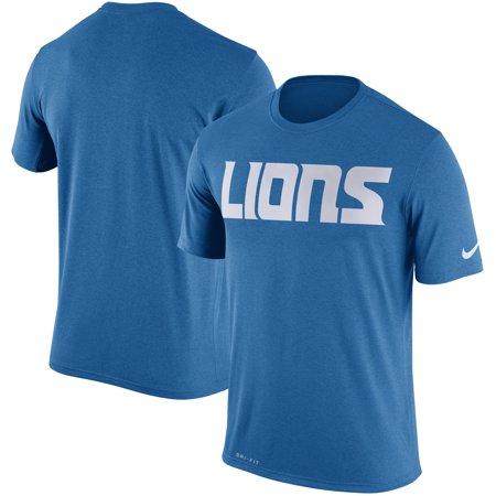 Detroit Lions Legend (Detroit Lions Nike New Logo Legend Wordmark Essential 3 Performance T-Shirt - Blue - 3XL )