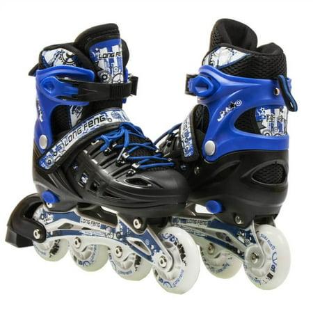 size 4-6 adjustable kids light up inline skates ()