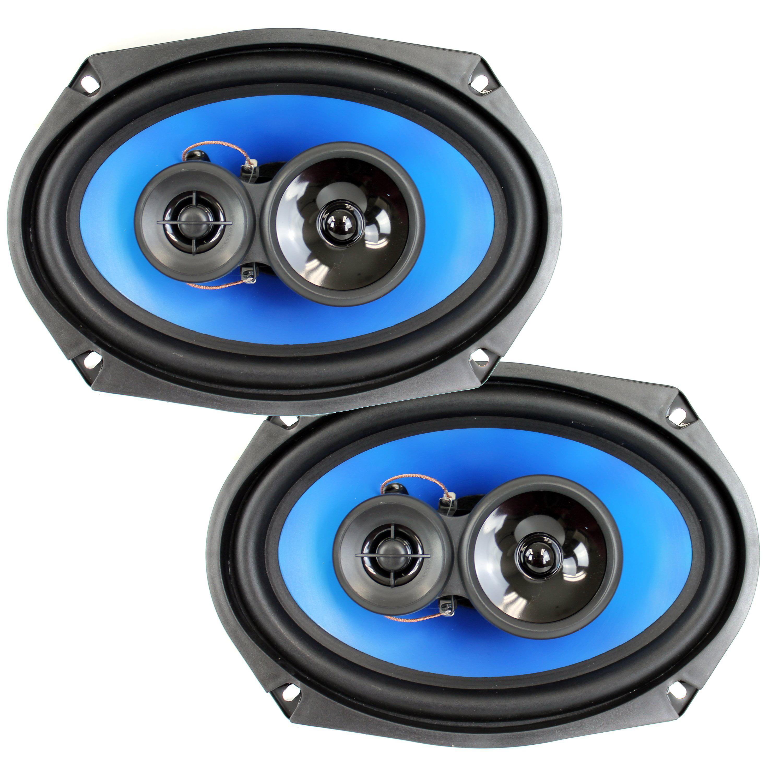 "Scosche HD6904S Car Stereo Speaker Pair 6 x 9/"" HD 4 Way 300 Watt Peak 75W RMS"