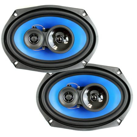 "2) Q Power 6x9"" 700 Watt 3-Way Car Audio Stereo Coaxial Speakers Pair | QP693"