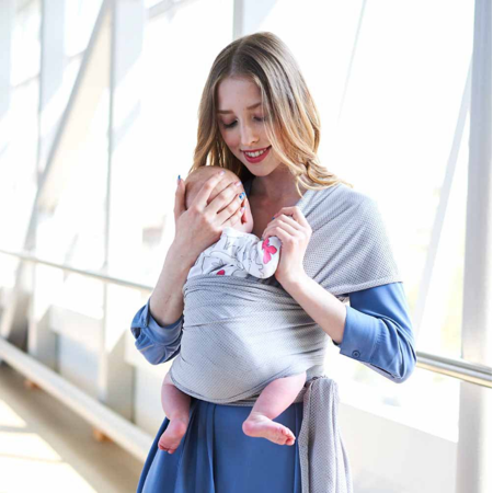 Amerteer Baby Wrap Ergo Carrier Sling - Available in 5 Colors - Baby Sling, Baby Carrier Wrap, Cuddle Up Baby Wrap - Specialized Baby Slings and Wraps for Infants and Newborn -