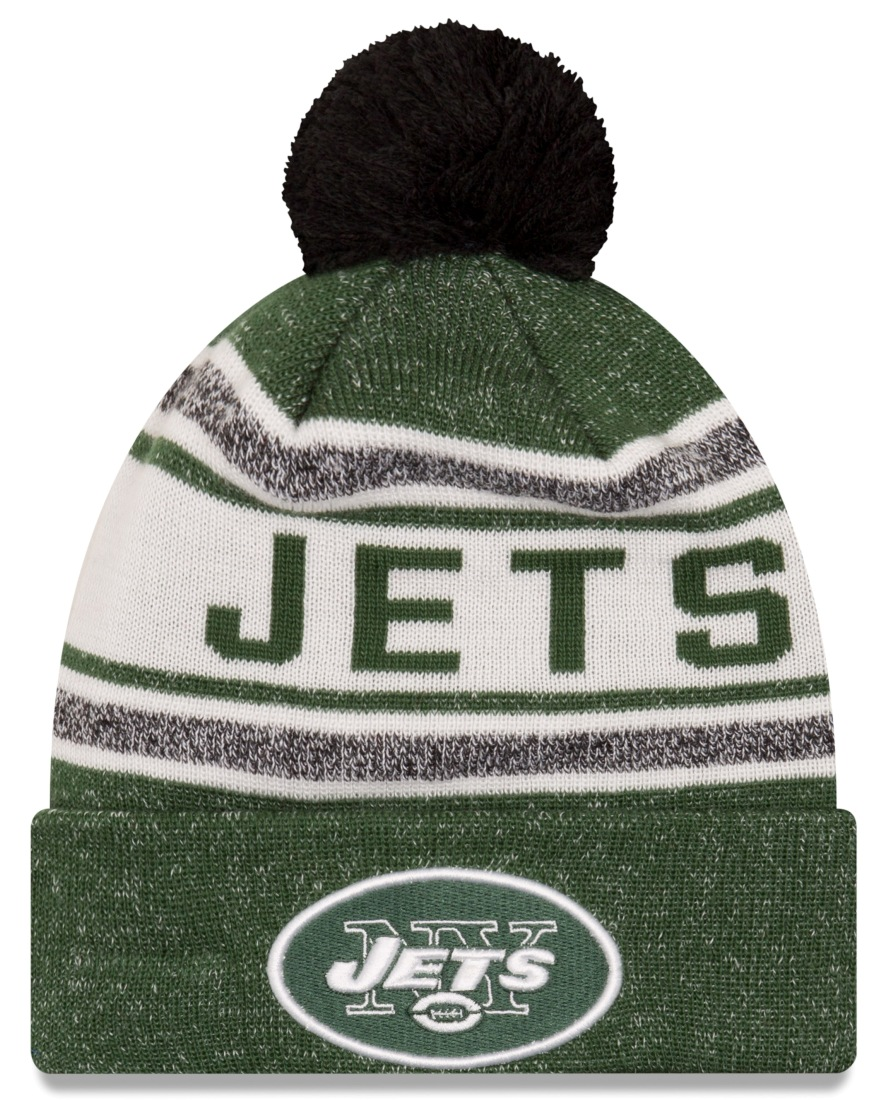 "New York Jets New Era NFL ""Toasty Cover"" Cuffed Knit Hat with Pom by New Era"