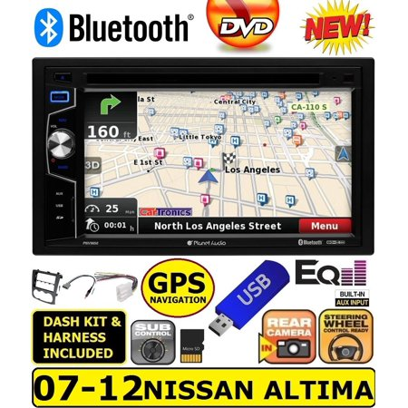 07 08 09 10 11 12 NAVIGATION CD/DVD BLUETOOTH USB NAV BT GPS CAR RADIO STEREO