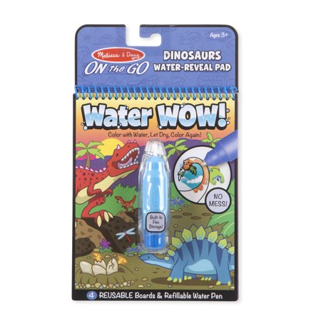 Melissa & Doug On the Go Water Wow! Reusable Water-Reveal Activity Pad – Dinosaurs - Water Wow Melissa And Doug