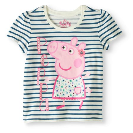 54661e9e6 Peppa Pig - Peppa Pig Toddler Girl Stripes Graphic T - Walmart.com