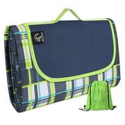 "REDCAMP Outdoor Picnic Blanket Waterproof, 79""x75"" Beach Blanket with Shoulder Strap"