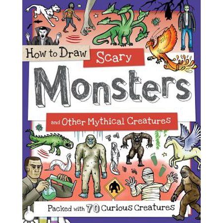 How to Draw Scary Monsters and Other Mythical Creatures - Halloween Creatures Draw