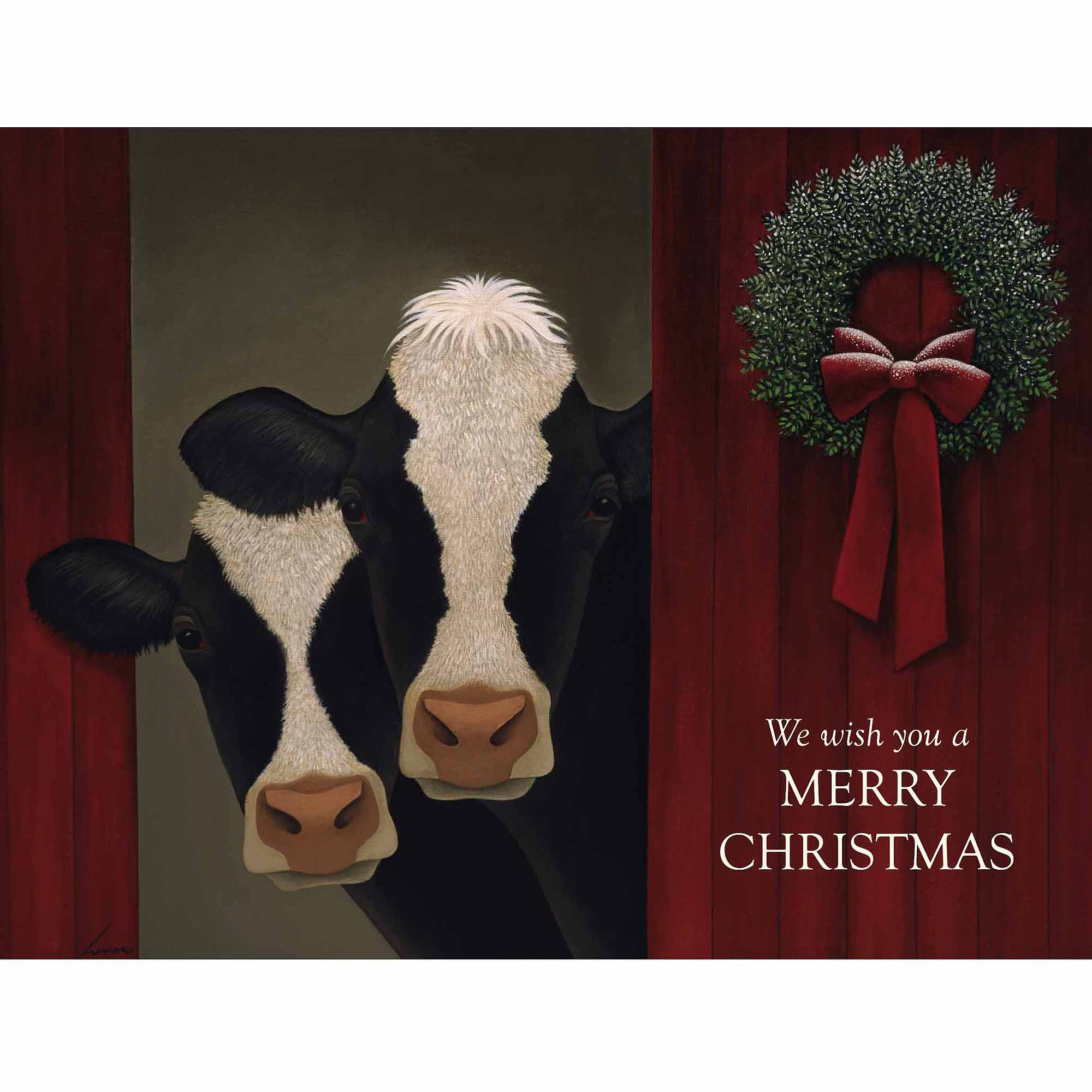 Holiday Cows Boxed Christmas Card