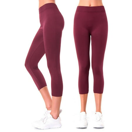 Women Leggings Seamless Plus One Size Footless Stretchy Yoga Pants Capri Jegging - Plus Size Footless Leggings