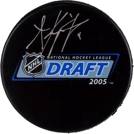Anze Kopitar Los Angeles Kings Autographed 2005 Nhl Draft Logo Hockey Puck   Fanatics Authentic Certified