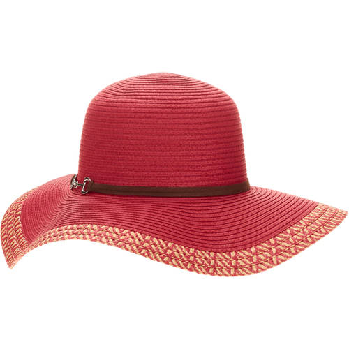 Women's Melange Border Floppy hat