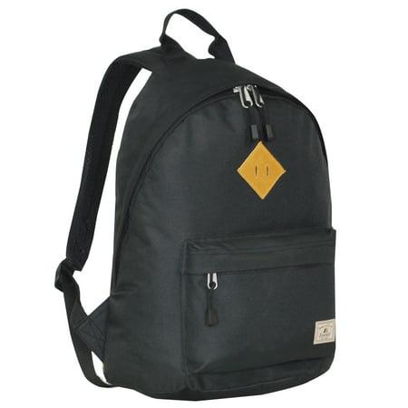 Everest Vintage Backpack, Black, One Size