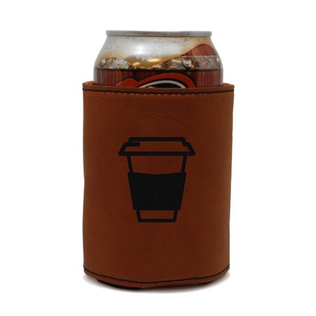 Coffee Cup Leather Can Sleeve, Beer Sleeve, Beer Cooler, Beer Hugger