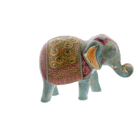 Decmode Eclectic 10 Inch Paper Mache Elephant Sculpture, Gray - Paper Mache Heads Halloween