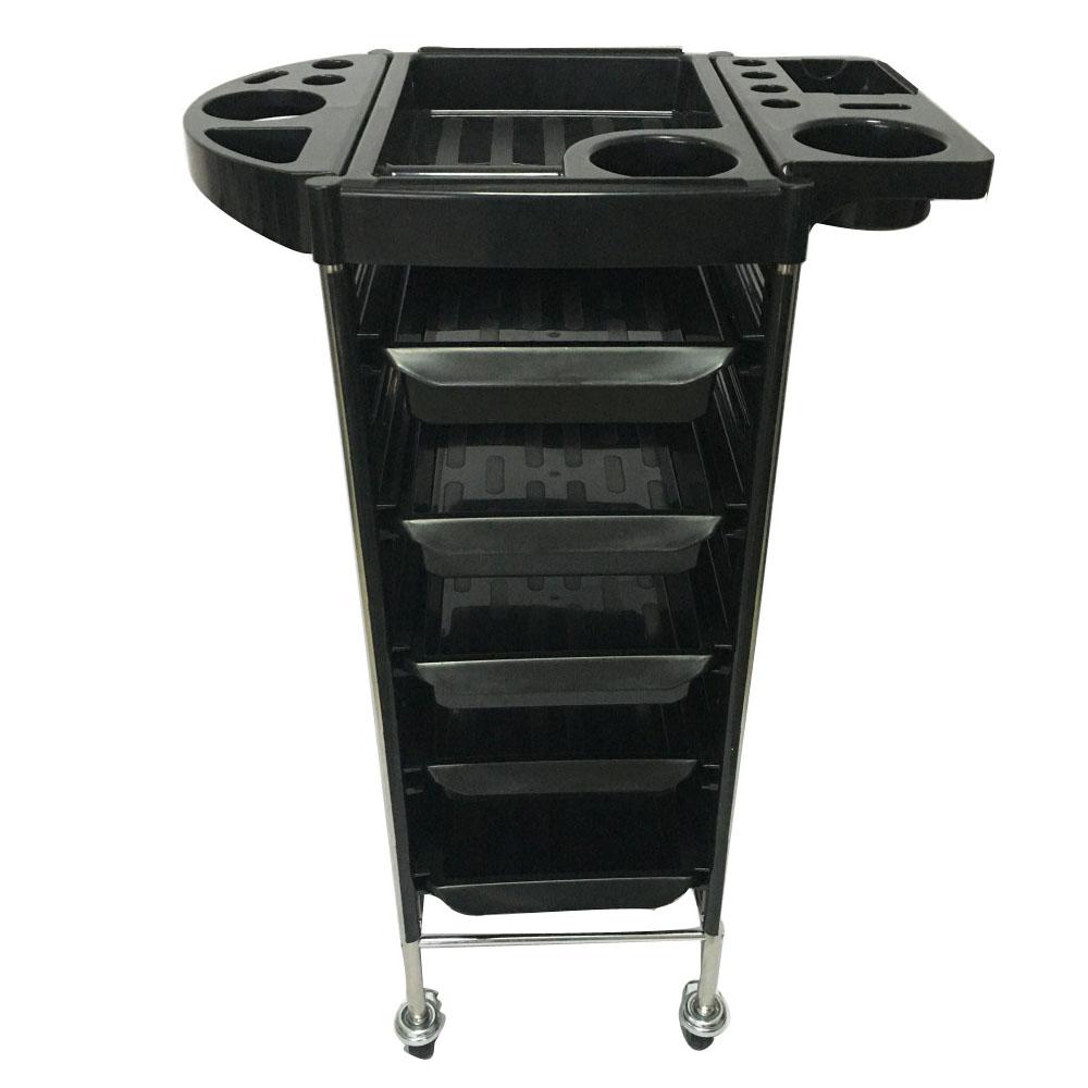 Zimtown YC-Q7 5 Tiers Hairdresser Beauty Storage Trolley Black