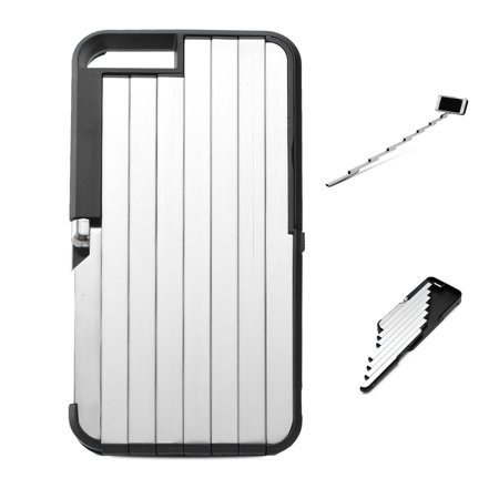 agptek retractable rechargerable bluetooth selfie stick case for iphone 6 6s. Black Bedroom Furniture Sets. Home Design Ideas