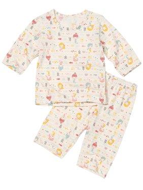Infant Toddler Two-Piece Front Closure 3/4 Pajama Set Premium 100% Organic Cotton 12M-8