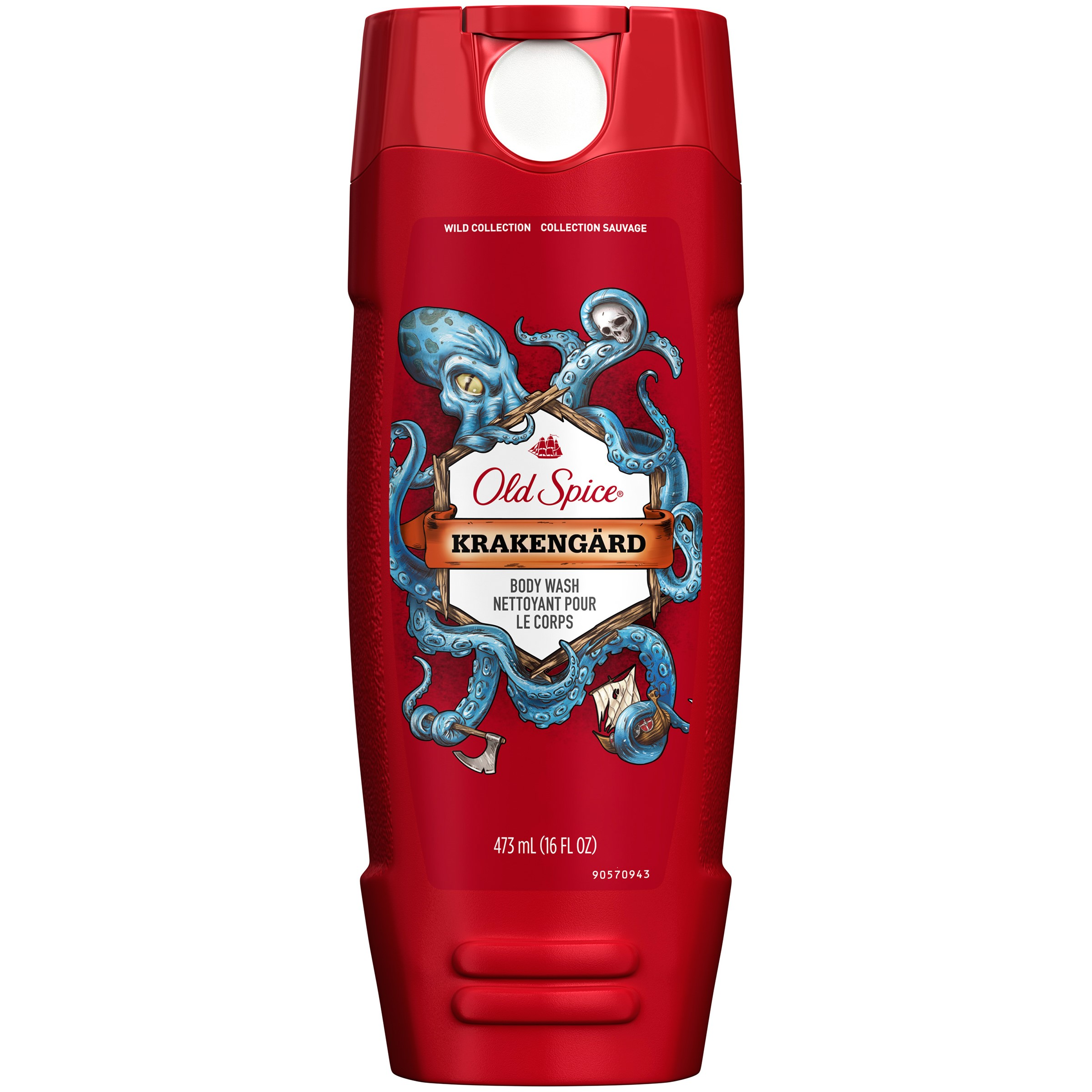 Old Spice Body Wash Wild Collection Krakengard 16 oz (473ml)