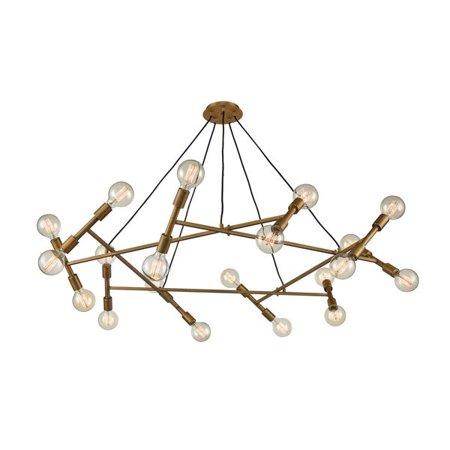 Brass Elk - Elk Transitional Guesting 20-Light Pendant In Antique Brass D4350