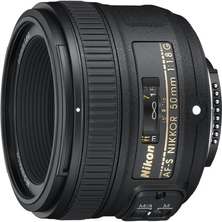 Nikon 50mm f/1.8G Auto Focus-S NIKKOR FX Lens for Nikon Digital SLR Cameras - Fixed (Certified Refurbished) … ()