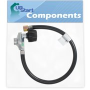 BBQ Gas Grill Propane Regulator Hose Replacement Parts for Weber 7502 - Compatible Barbeque 21 Inch QCC1 Regulator and Hose Kit