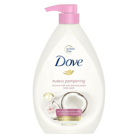 Jasmine Rose Body Wash ((2 pack) Dove Purely Pampering Body Wash Coconut Milk with Jasmine Petals 34 oz )