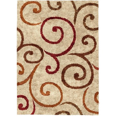 Better Homes And Gardens Swirls Soft Shag Area Rug Or Runner Walmart Com
