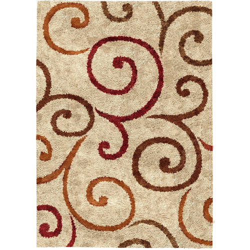 Better Homes and Gardens Swirls Soft Shag Area Rug or Runner