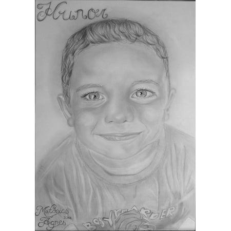 Pencil Portrait (Canvas Print Portrait Graphite Art Pencil Drawing Stretched Canvas 10 x)