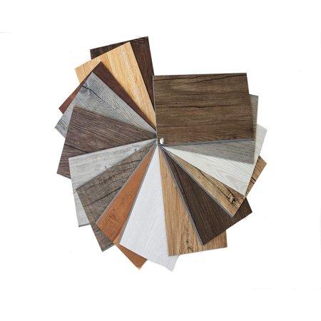 Reclaimed Rustic Wall Planks/Self Adhesive Weathered Barn Wood Wall Panels/Simple Peel and Stick 1 pc (Size (Peel And Stick Wood Panels For Walls)