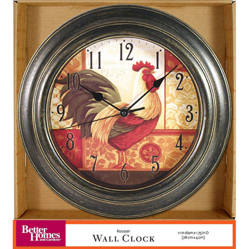 Better Homes And Gardens Rooster Wall Clock