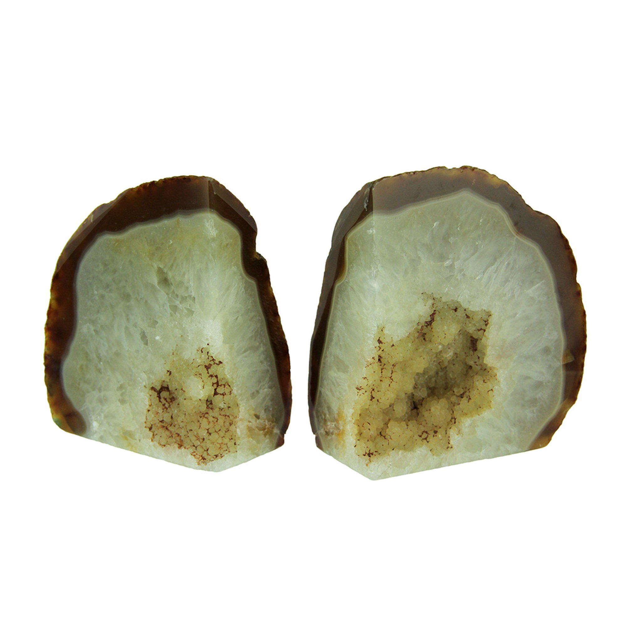 Small Polished Light Natural Brazilian Agate Geode Bookends 4 Pounds Walmart Canada