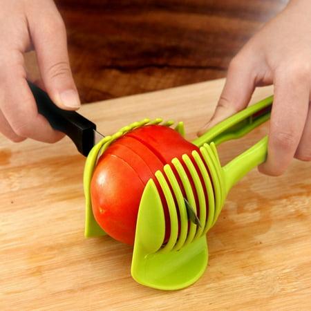Vegetable Fruit Slicer Egg Peel Cutter Holder Green ()