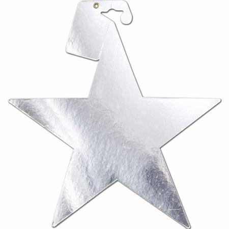9 Foil Paper Stars Silver 5pk Walmart