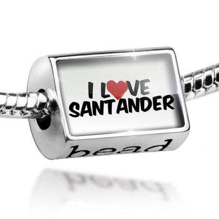 Bead I Love Santander Charm Fits All European Bracelets