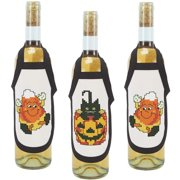 Herrschners Halloween Bottle Aprons Stamped Cross-Stitch