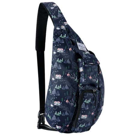 Sling Backpack - Rope Bag Crossbody Backpack Travel Multipurpose Daypacks for Men Women Lady Girl -