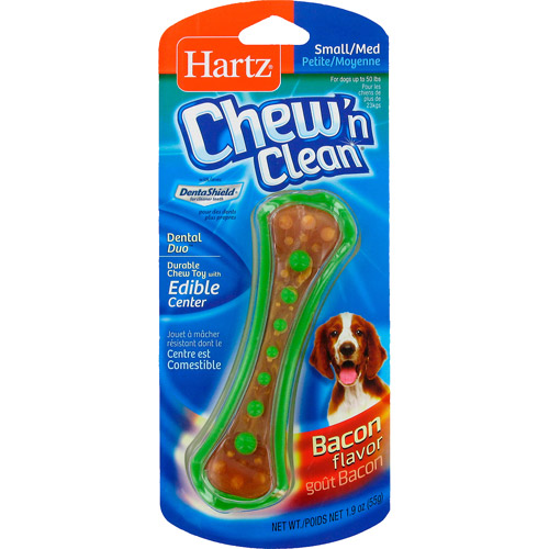 Hartz Chew 'N Clean Country Bacon Flavored Toy And Edible Chew, 1.9 oz