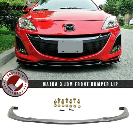 Fits 10-11 Mazda 3 4Dr Poly-Urethane Front Bumper Lip Spoiler JDM PU Body Kit