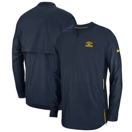 - Green Bay Packers Nike Sideline Lockdown 1/4-Zip Alternate Jacket - Navy