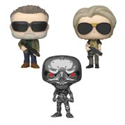 Funko POP! Movies Terminator Dark Fate Collectors Set - T-800, Sarah Connor (Possible Limited Chase Edition), REV-9
