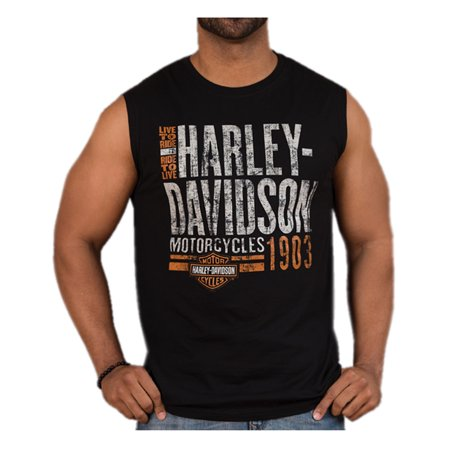 2a9c07a286e8e8 Harley-Davidson Men s Distressed Old Garage Sleeveless Muscle ...