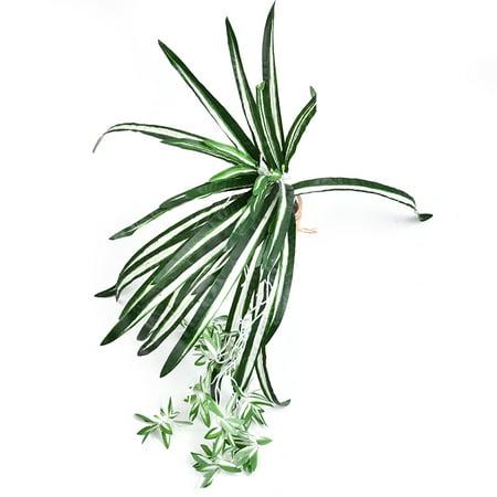 Emulational plante verte petit chlorophytum fleurs artificielles plante verte herbe verte mur aménagement paysager décoration artisanat pour la décoration intérieure - image 9 de 9