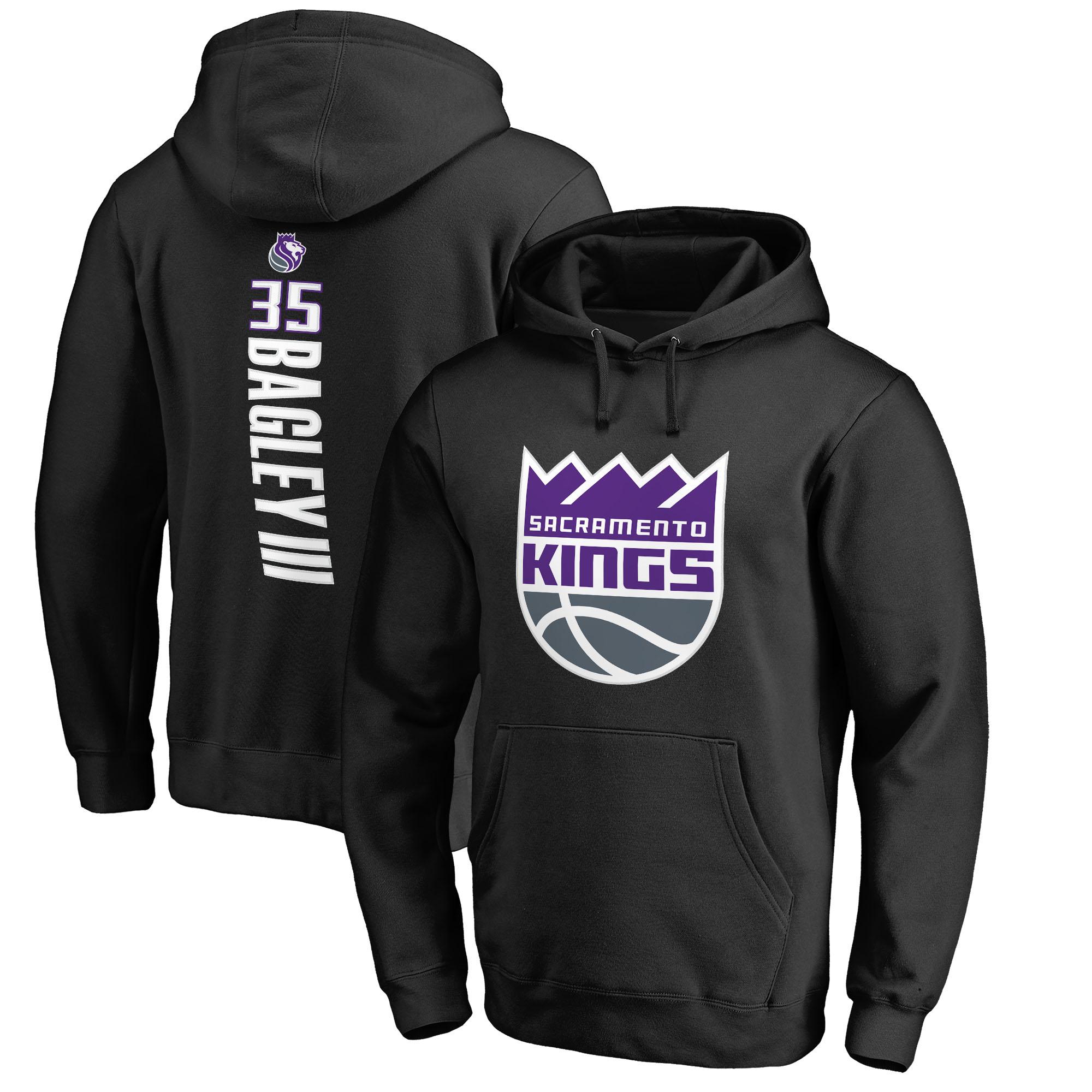 Marvin Bagley III Sacramento Kings Fanatics Branded Team Backer Name & Number Pullover Hoodie - Black